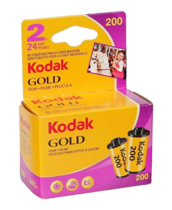 CARRETE KODAK GOLD DE 24 EXPOSICIONES BIPACK ISO 200